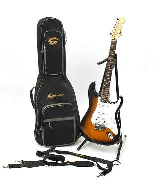 Squier Stratocaster by Fender bullet strapped six