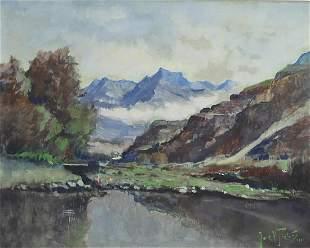 Jacobus (Jack) Pieters - Valley landscape, 20th century