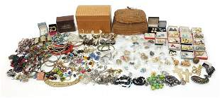 Large collection of vintage and later costume jewellery