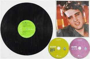 Framed Elvis Presley Love Me Tender vinyl LP display,
