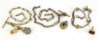 Antique and later jewellery comprising three Victorian