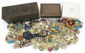 Vintage and later costume jewellery including jewelled