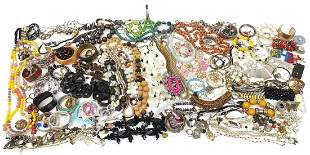 Collection of vintage and later costume jewellery