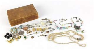Vintage and later jewellery including crystal