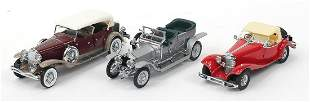 Three Franklin Mint die cast precision models including