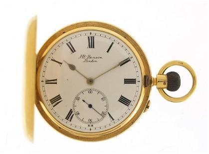 J W Benson, gentlemen's 18ct gold full h...
