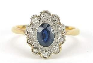 18ct gold and platinum sapphire and diam...