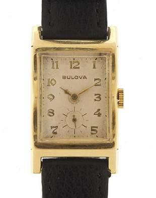 Bulova, 14ct gold gentlemen's wristwatch...