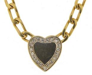 18ct gold necklace with diamond love hea...