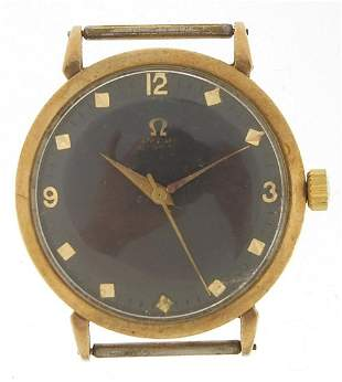 Omega, gentlemen's 9ct gold Omega wristw...