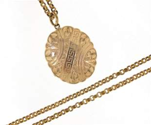 Victorian 9ct gold front and back mourni...