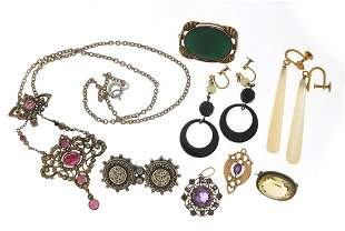 Antique and later jewellery including ma...