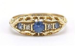 18ct gold sapphire and diamond five ston...