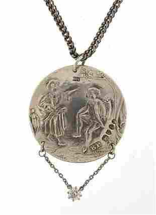 Benjamin Phillips, Victorian silver pend...