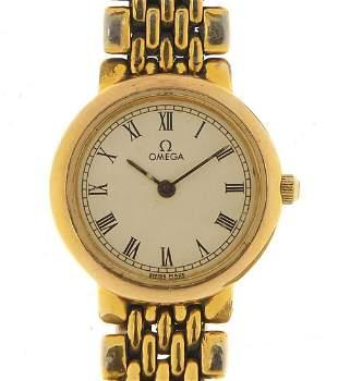 Omega Deville, ladies quartz wristwatch,...