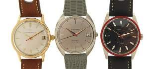 Eterna, three gentlemen's wristwatches i...