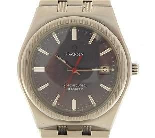 Omega, gentlemen's Seamaster quartz wris...