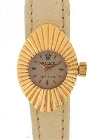 Rolex, ladies 18ct gold Precision manual...