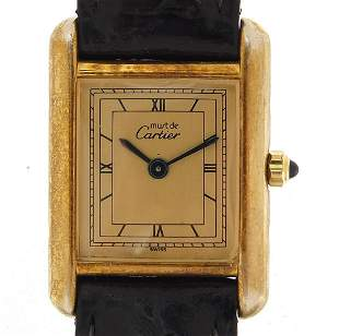 Must de Cartier, gentlemans silver gilt ...