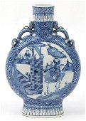 Large Chinese blue and white porcelain m...