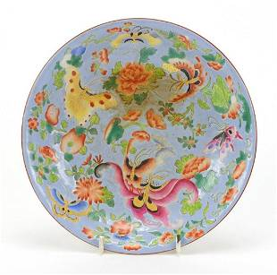 Chinese porcelain shallow dish hand pain...