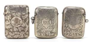 Two Victorian and later silver vestas an...
