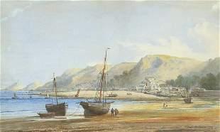 Alfred Edward Parkman - Mumbles Beach wi...