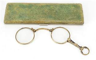 Pair of Victorian yellow metal and ename...