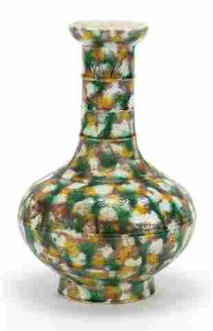 Chinese porcelain vase having a sancai t...