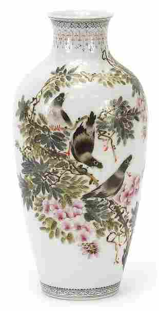 Chinese porcelain vase hand painted with...