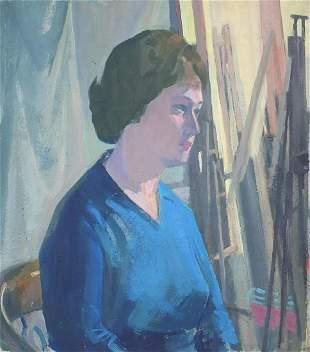 Carl L Wragg - The artist's model, 20th ...