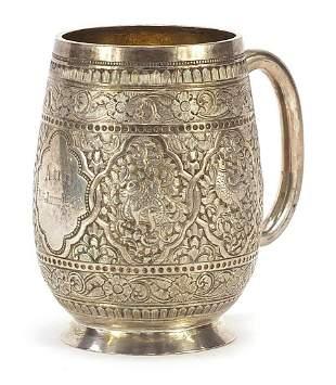 William Hutton & Son, Victorian silver t...