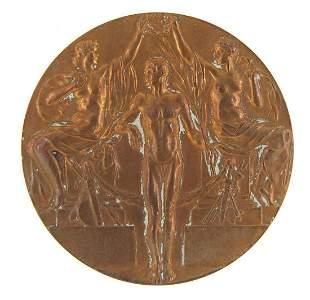 Stockholm 1912 Olympic Games bronze meda...