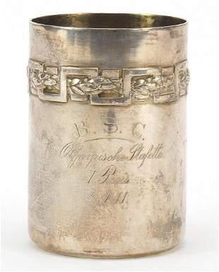 Olympic interest German silver beaker tr...