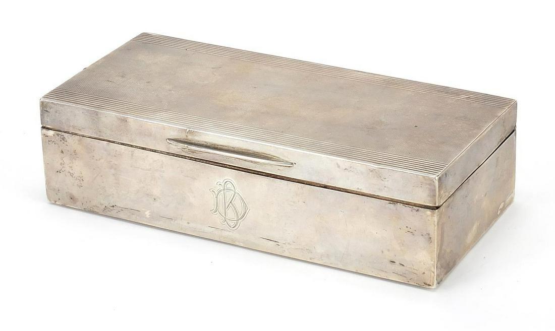 Padgett & Brahm Ltd, Art Deco silver cig...