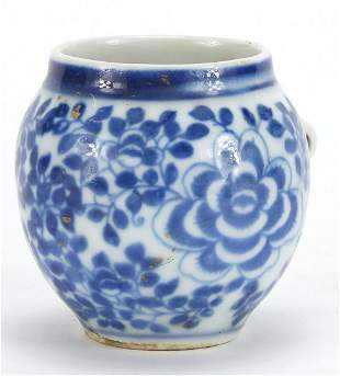 Chinese blue and white porcelain bird fe...