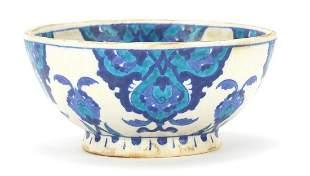 Turkish Iznik pottery bowl hand painted ...