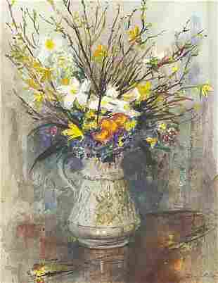 John Corvin 1978 - Still life flowers in...