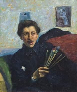 Top half portrait of an artist, Italian ...