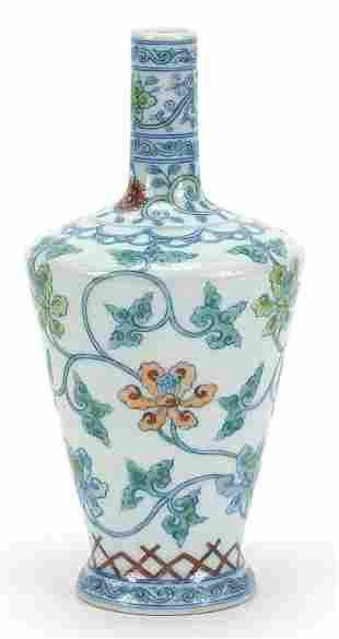 Chinese doucai porcelain vase finely han...