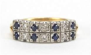 Art Deco design 18ct gold diamond and sa...