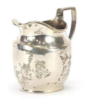 George Unite, George V silver cream jug,...
