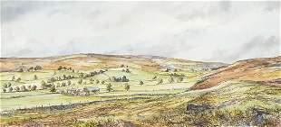 John Freeman '75 - Rural landscape, ink ...