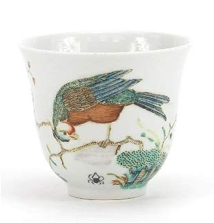 Good Chinese porcelain tea cup, finely h...