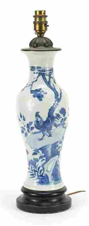 Chinese blue and white porcelain baluste...