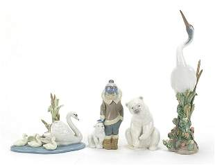 Lladro animals and Eskimo including Danc...