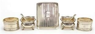 Silver objects comprising cigarette case...