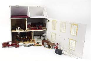 Large wooden doll's house with a large s...