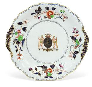 Antique English ironstone tureen stand d...