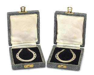 Francis Howard Ltd, pair of novelty silv...